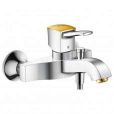 Смеситель для ванны, хром/золото Hansgrohe Metropol Classic 31340090