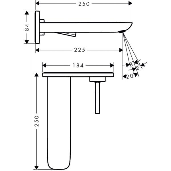 Смеситель для раковины скрытого монтажа Hansgrohe PuraVida15085400