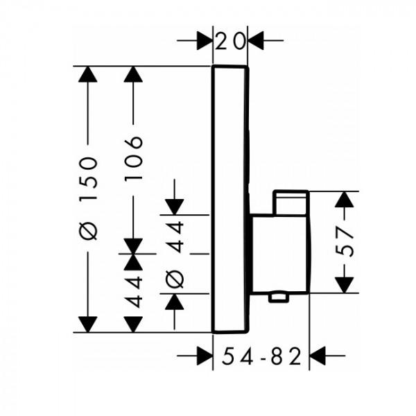 Термостат на 2 потребителя Hansgrohe Shower Select S 15743000