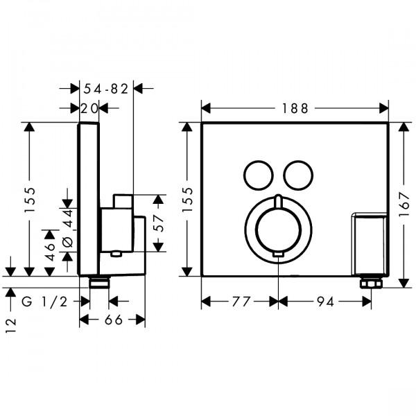 Термостат для двух потребителей Hansgrohe Shower Select 15765000