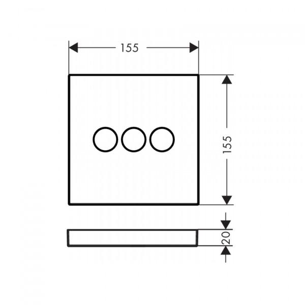 Запорный вентиль для 3 потребителей Hansgrohe ShowerSelect Select 15764000