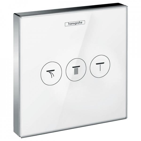 Стеклянный модуль с тремя запорными клапанами, белый-хром Hansgrohe ShowerSelect 15736400