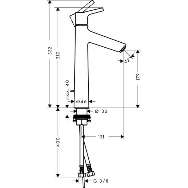 Смеситель для раковины Hansgrohe Talis S 72031000