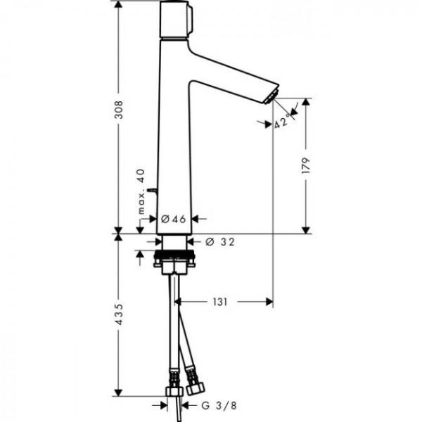 Смеситель для раковины Hansgrohe Talis Select S 72044000