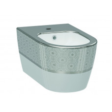Биде IDEVIT Alfa 3106-2605-1201, белый-серебро