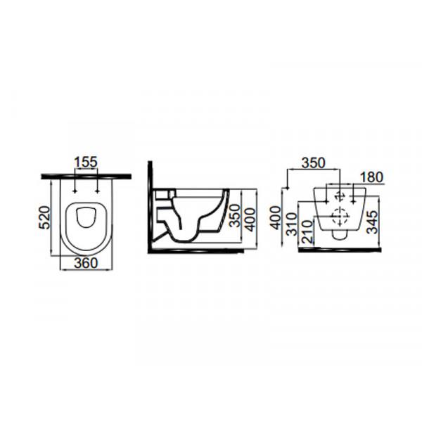 Чаша унитаза IDEVIT Alfa  3104-2616