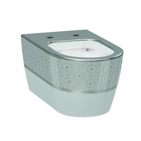 Чаша унитаза IDEVIT Alfa 3104-2616-1201, белый-серебро