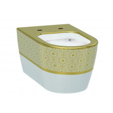 Чаша унитаза, белый-золото IDEVIT Alfa  3104-2616-1101