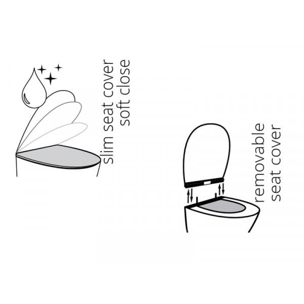 Сиденье для унитаза Soft Close Slim IDEVIT Alfa 53-02-06-007