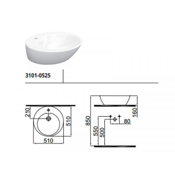 Умывальник 51 см IDEVIT Alfa 3101-0525