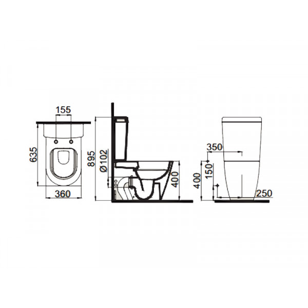Унитаз-компакт с ф-й биде, вентилем и сидением SC IDEVIT Alfa SETK3104-0317-001-1-6200
