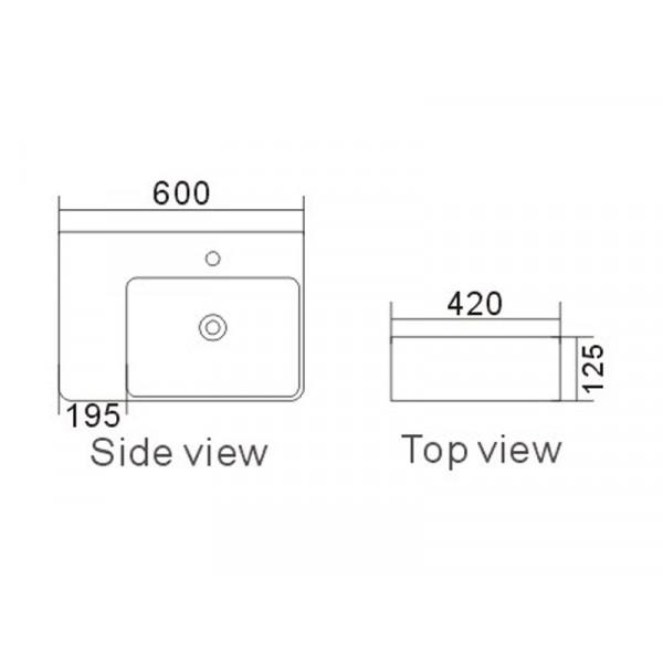 Умывальник ASIGNATURA Angle 87821805, белый