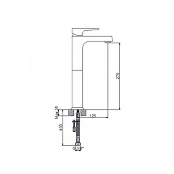 Смеситель для умывальника NEWARC Aqua 941001