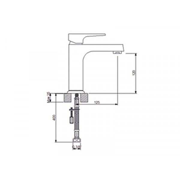 Смеситель для умывальника NEWARC Aqua 941521