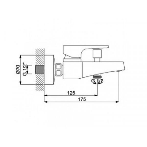 Смеситель для ванны NEWARC Aqua 941511