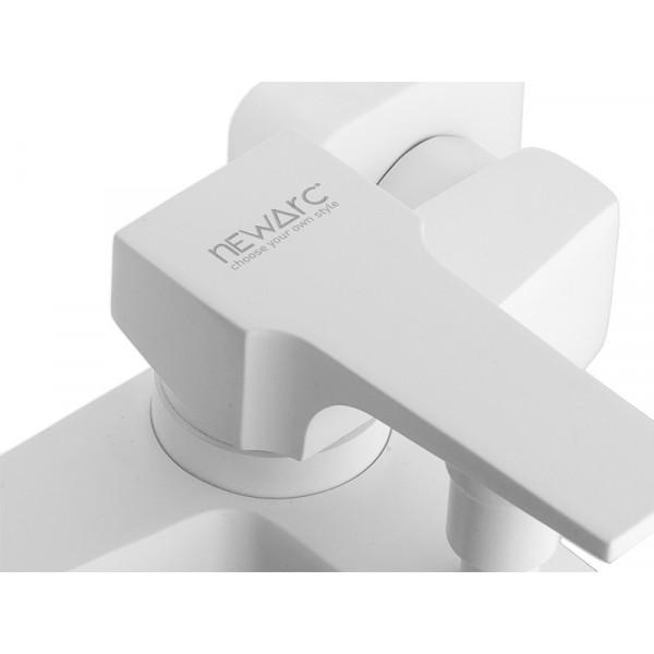 Смеситель для ванны NEWARC Aqua 941511W, белый