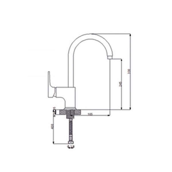 Кухонный смеситель NEWARC Aqua 941881B, черный