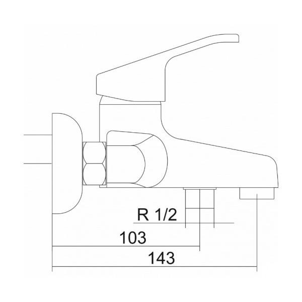 Смеситель для ванны VENEZIA Armoni 5011401