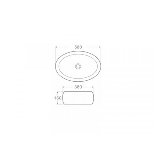 Умывальник Newarc Countertop 5015G-W, золото-белый