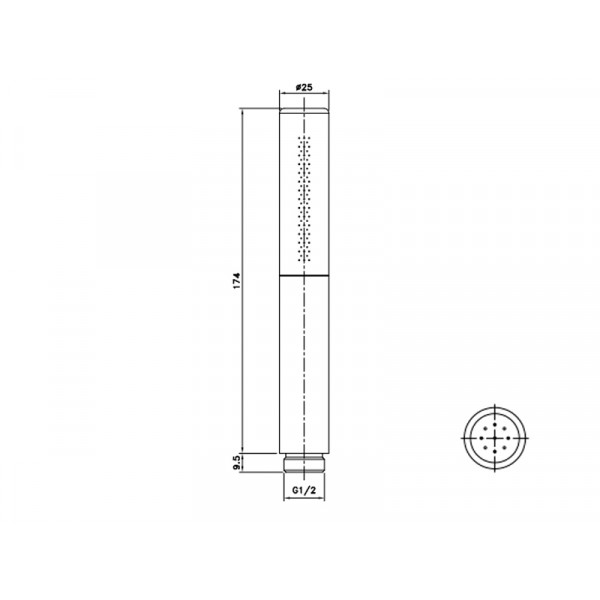 Ручной душ ASIGNATURA Delight 75509800