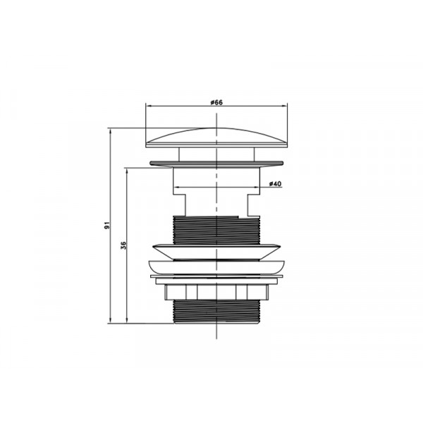 Донный клапан с переливом ASIGNATURA 45511900