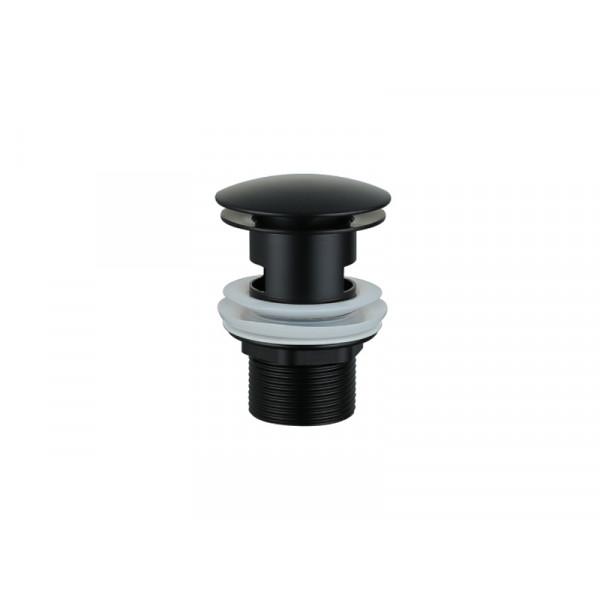 Донный клапан с переливом ASIGNATURA 45511902, черный