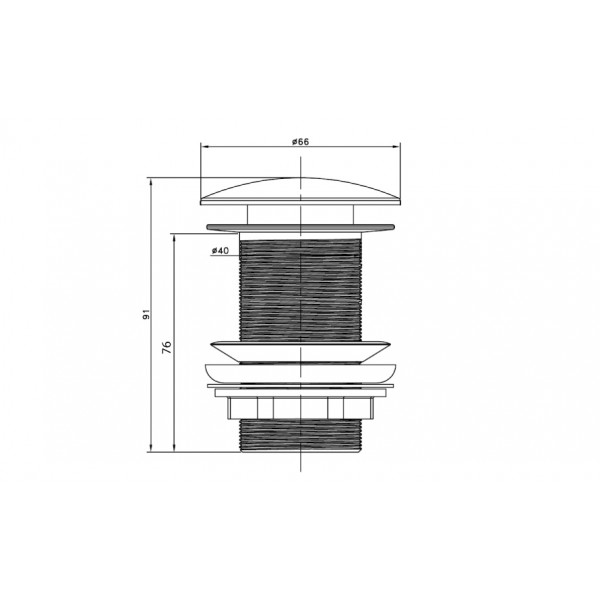 Донный клапан без перелива ASIGNATURA 45513902, черный