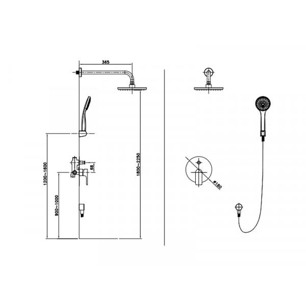 Душевая система ASIGNATURA 45547900