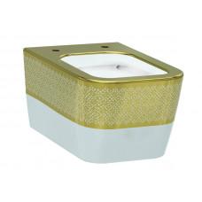 Чаша унитаза, белый-золото IDEVIT Halley 3204-2616-1101