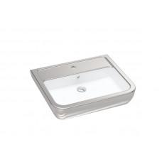 Умывальник 60 см, белый-серебро IDEVIT Halley 3201-0455-12