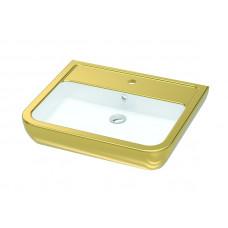 Умывальник 60 см, белый-золото IDEVIT Halley 3201-0455-11