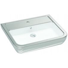 Умывальник 60 см, белый-серебро IDEVIT Halley 3201-0455-1201