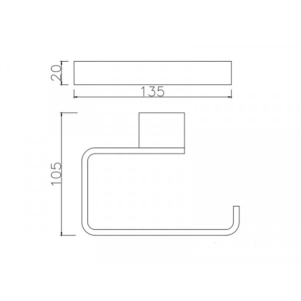 Держатель туалетной бумаги ASIGNATURA Intense 65607800