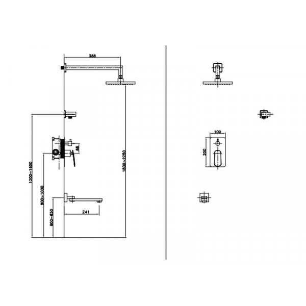 Душевая система ASIGNATURA Intense 65527900