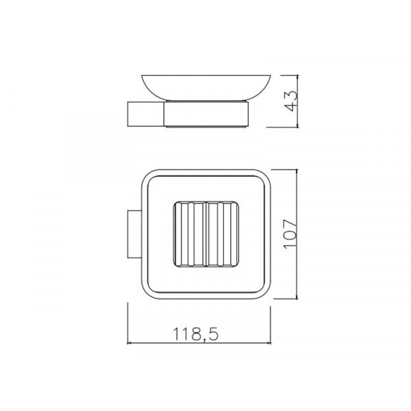 Настенная мыльница ASIGNATURA Intense 65602800