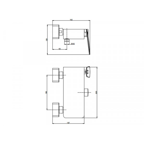 Смеситель для ванны ASIGNATURA Unique 65502800
