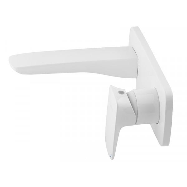 Смеситель для умывальника скрытого монтажа NEWARC Life 981571W, белый