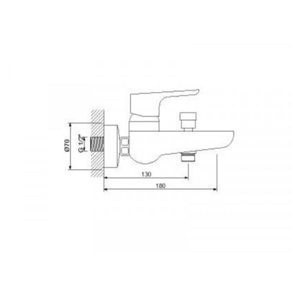 Смеситель для ванны NEWARC Loft 921511