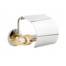 Держатель туалетной бумаги, хром-золото KUGU Maximus 611C&G