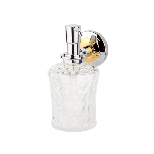 Дозатор для жидкого мыла, хром-золото KUGU Maximus 614C&G