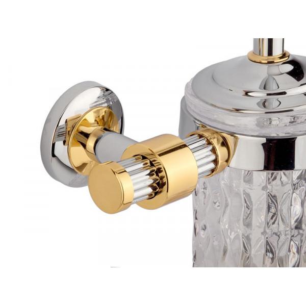Туалетный ёршик, хром-золото KUGU Maximus 605C&G