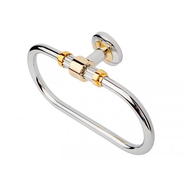 Кольцо для полотенца, хром-золото KUGU Maximus 604C&G
