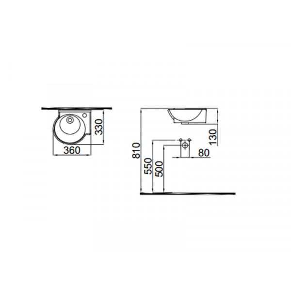 Умывальник правосторонний IDEVIT Myra Mini 0201-0365