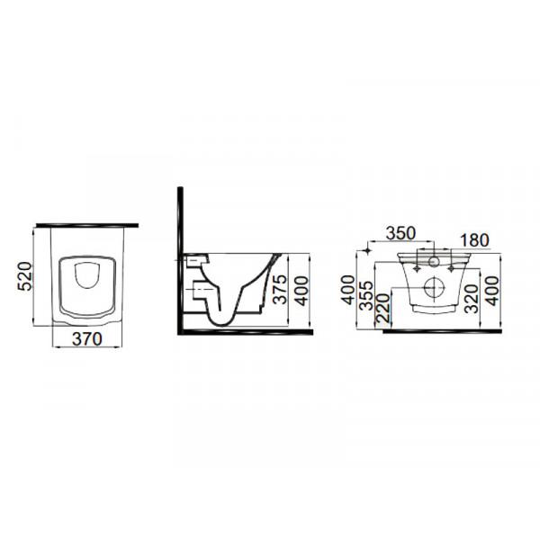 Чаша унитаза IDEVIT Neo Classic 3304-0616