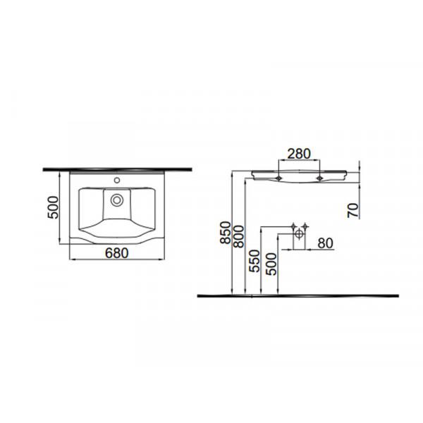 Умывальник IDEVIT Neo Classic 3301-0655