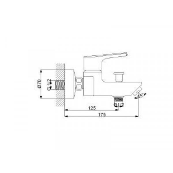 Смеситель для ванны NEWARC Newart 150511