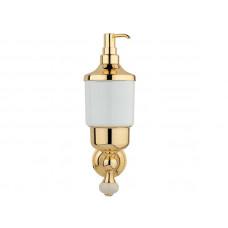 Дозатор для жидкого мыла, золото KUGU Pan 014G