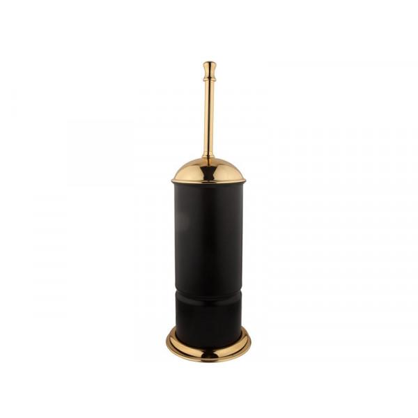 Туалетный ёршик, черный-золото KUGU Toilet Brush Holder 932G&B