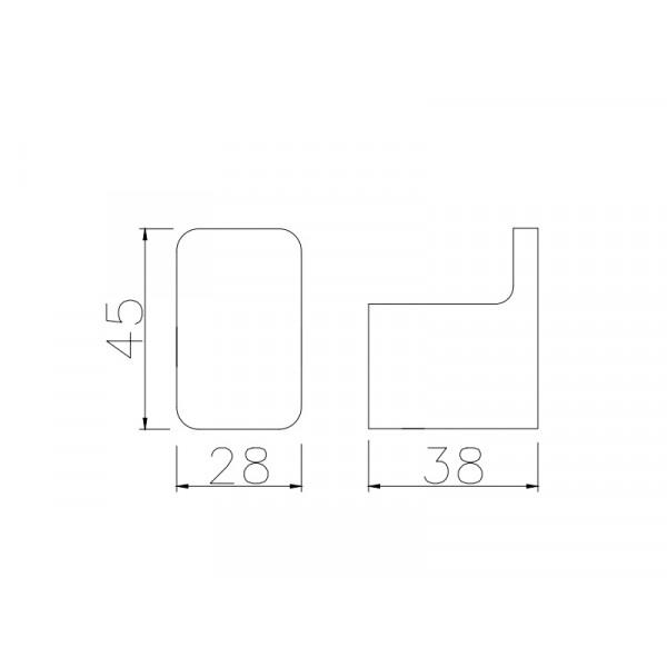 Крючок одинарный ASIGNATURA Unique 85603802, черный