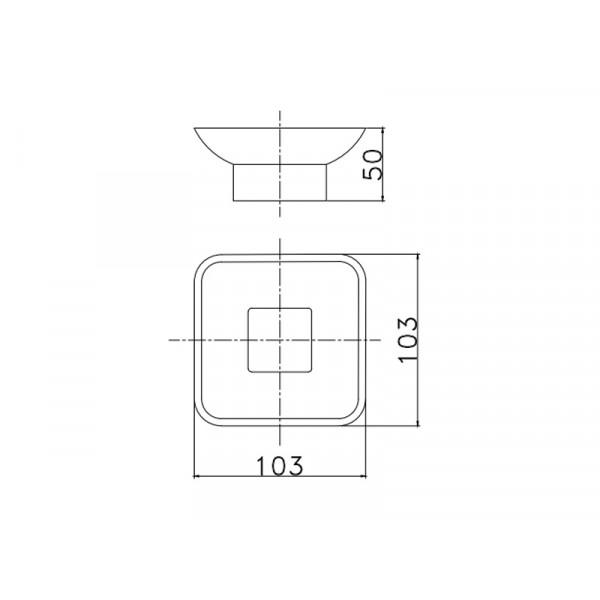 Настенная мыльница ASIGNATURA Unique 85602802, черная